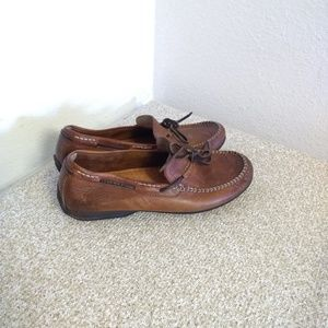 Frye Brown Natural Leather Moccasins Shoes
